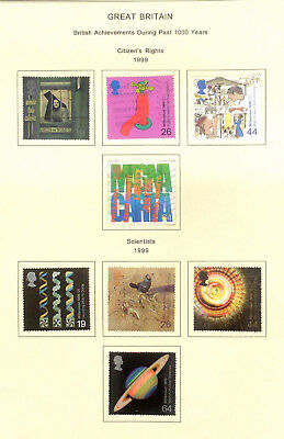 1999, Millennium Br. Achievements  - sets of used stamps from the UK