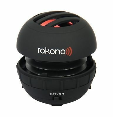 Rokono BASS+ Mini Speaker for iPhone / iPad / iPod / MP3 Player / Laptop - Bl...