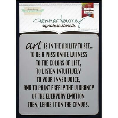 NEW Donna Downey Signature Series Stencils - Art Is, DD038