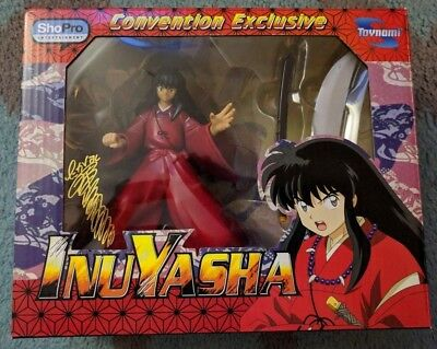 Toynami InuYasha Convention Exclusive SIGNED Black Hair Human Toy Figure #1962