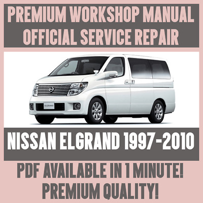 official workshop manual service repair nissan elgrand 1997 2010 rh picclick co uk Nissan Pathfinder Repair Manual 96 Nissan Maxima Repair Manual