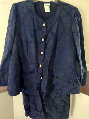 Bluish Vintage/modern More Promises jacket and skirt suit size 18W