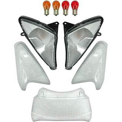 Set Gems Glass Indicators Stop White To Squared Yamaha Tmax T-Max 500 '01/'07