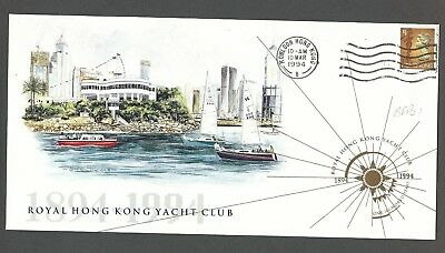Hong Kong - '94 Royal H.k. Yacht Club Centenary (Cover)