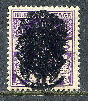 Burma 1942 Japanese Occupation GVI 3pies o/p Peacock mint, overprint double
