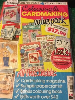 Cardmaking Magazine Includes Sheena Douglas Stamp And Matching Die And CD-ROM
