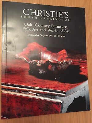 Christie's Catalogue: Oak, Country Furniture, Folk Art and Works of Art, 1999