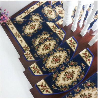 E36 5PCS Step Rug Stair Tread Mat Skid Resistance Household Carpet 75X24CM Z