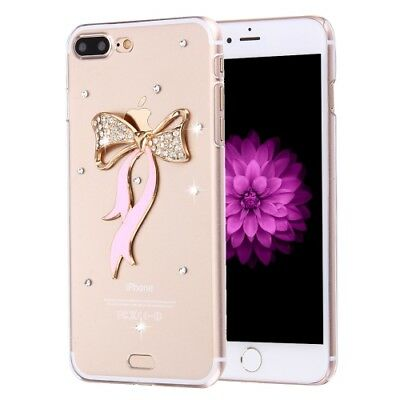 Pochette de protection iPhone 8 Plus & 7 diamant noeud pierres Strass