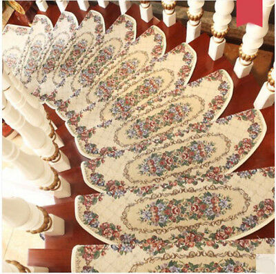 E12 5PCS Skid Resistance Stair Tread Mat Step Rug Household Carpet 24X75CM Z