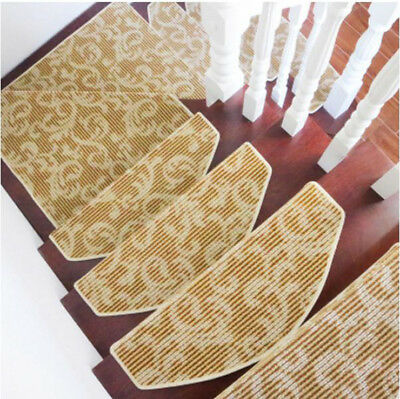 E41 Household 5PCS Step Rug Stair Tread Mat Skid Resistance Carpet 75X24CM Z