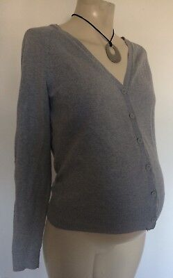 [240] H&M Grey Cardigan Size S (8-10) Not actual maternity