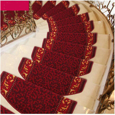 E33 5PCS Skid Resistance Household Step Rug Stair Tread Mat Carpet 80X24CM Z