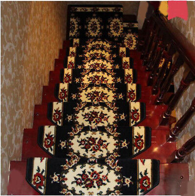 E28 5PCS Household Skid Resistance Step Rug Stair Tread Mat Carpet 90X24CM Z