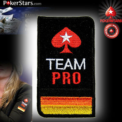 Germany TEAM PRO POKERSTARS POKER CASINO Iron on Shirt Suit Patch