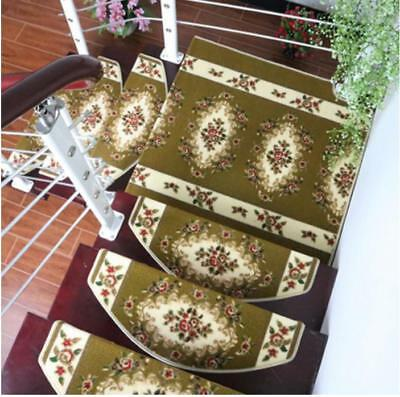 E37 5PCS Step Rug Stair Tread Mat Skid Resistance Household Carpet 80X24CM Z
