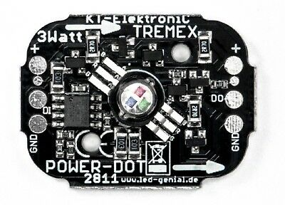 RGB-LED Power-Dot 3 Watt auf ALU-Platine WS2812B kompatibel