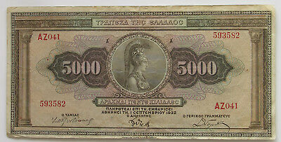GREECE 5000 DRACHMAI 1932   #alb18 759