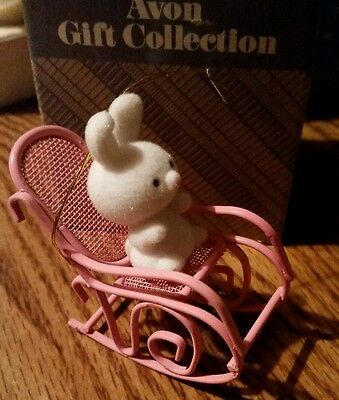 Avon Ornament The Spring Bunny Collection Bunny in Rocker