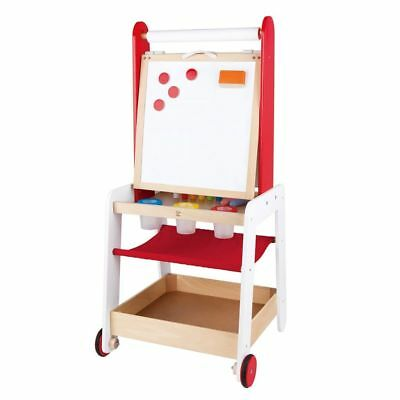 Caballete Ajustable para Niños Pizarra Set Dibujo Hape Create and Display E1055#