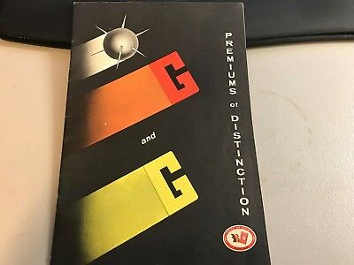 Vintage G & G Red Premium Trading Stamps Store Catalog Brochure