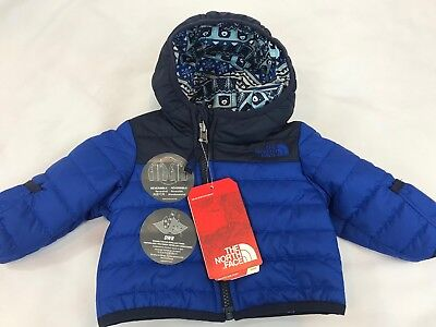 The North Face Infant Boy's Reversible Perrito Jacket Coat Blue NEW