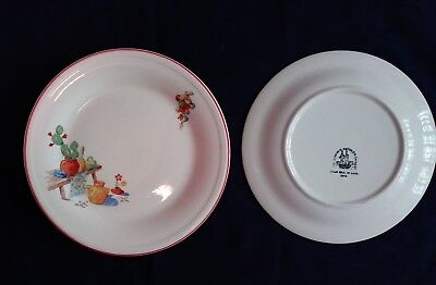 Set of 5 Edwin M Knowles The Bench - Cactus Lunch Plates