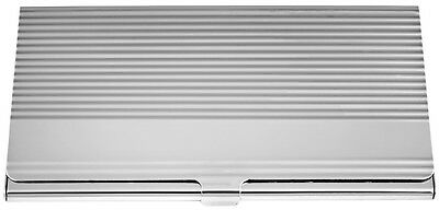 Ribbed Business Card Case Sterling Silver 925 Hallmarked New From Ari D Norman