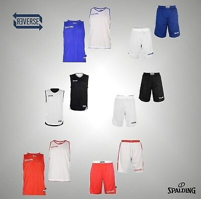 f20b05866 Mens Spalding Sports Basketball Reversible Move Tank Top Or Shorts Size  S-XXL
