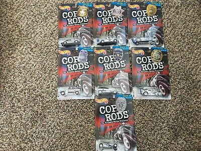 Hot Wheels Lot Of 7 Cop Rods Nd Az Wy Nm Ks Mn Ct