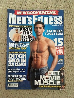Men's Fitness Magazine September 2012 Great Condition. Get Movie Muscle Workout