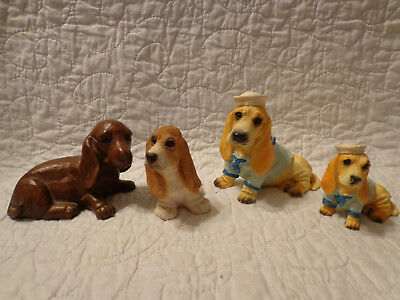 BASSET HOUND Small Collection Stone Critters Red Mill Mfg USED