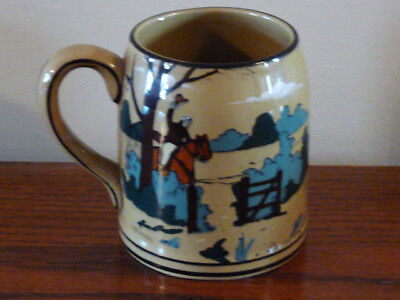 "Buffalo Pottery Deldare MUG 3 3/4"" Fallowfield Hunt Breaking Cover 1909"