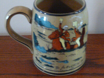"Buffalo Pottery Deldare Fallowfield Hunt MUG 4 1/2"" 1909"