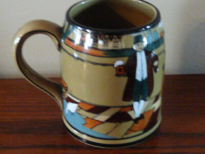 "Buffalo Pottery Village MUG Ye Lion Inn 4 1/2"" 1908"