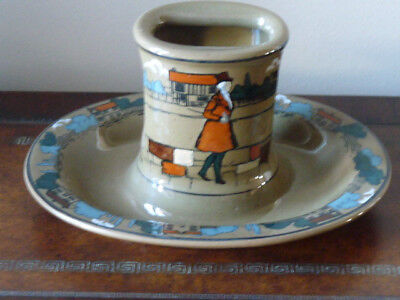 Buffalo Pottery Deldare Rare Matchbox Holder & Ashtray Village