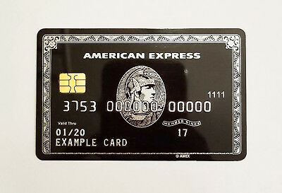 Customized American Express Amex Black Card Centurion Replica with Smart Chip