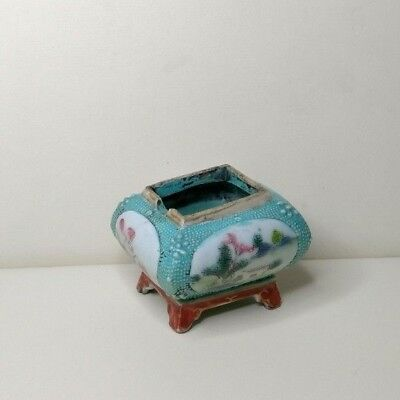 Antique Chinese porcelain small censer,  19th-20th century.