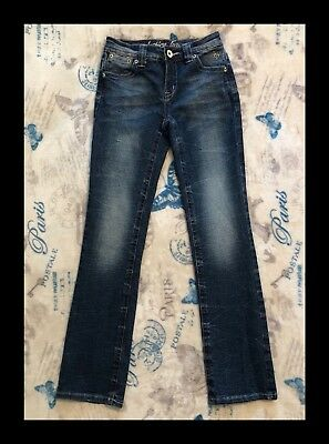 JUSTICE Girls size 12 S Jeans Simply Low Straight Leg Denim FREE SHIPPING