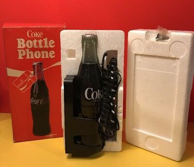 Vintage 1983 Original Coca-Cola Official BOTTLE PHONE Coke Telephone box
