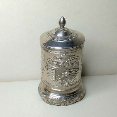 Antique Chinese Silver-plated box. 20th century.