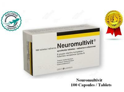 Neuromultivit 100 Capsules * Helps nervous system *  Restores the deficiency B