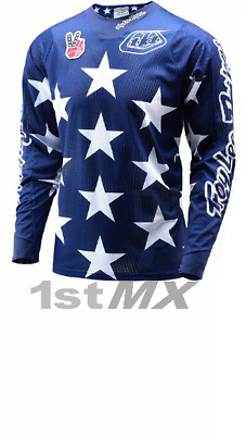 Troy Lee Designs Phantom SE AIR Freedom Blue Red MX Motocross Gear Jersey Small