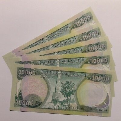 1 x 10,000 NEW IRAQI DINARS - NEW IQD - UNCIRCULATED NOTES - SERIALLY NUMBERED