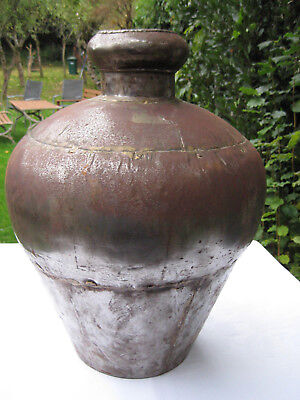 Large Metal Urn  46cm x 38 cm approx