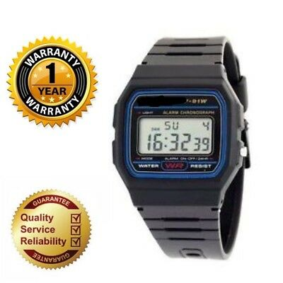 Classic F-91W Alarm Chronograph  Digital Watch Black Strap 12 Months Warranty
