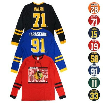 "NHL ""Shootout"" Mass Hockey Long Sleeve Player Jersey T-Shirt Collection Men's"