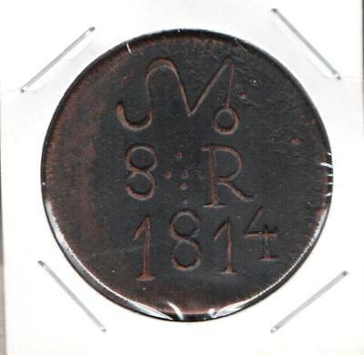 Mexico 8 Eight Reales 1814 Legend Oxa, General Morelos, Extremely Scarce & Rare