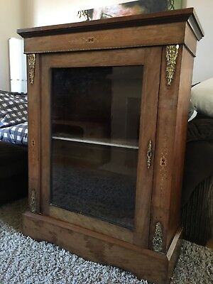 Antique French Louis Style Inlaid Display Cabinet