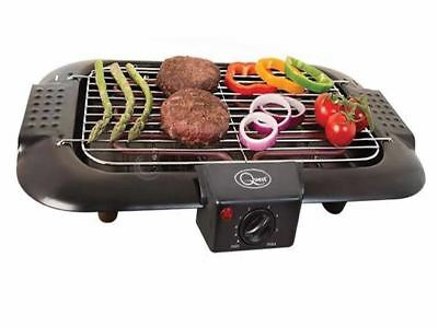 Quest Electric BBQ Barbecue Grill Griddle Table Top Camping Kitchen Cooking